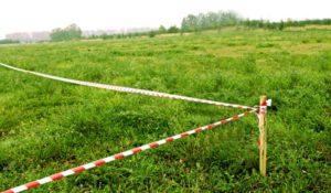 Вынос границ земельного участка в натуру на землю