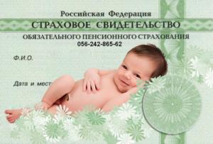 Как и где получить СНИЛС на новорожденного ребенка