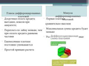 Погашение кредита дифференцированными платежами: что это такое, плюсы и минусы