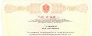 Нотариальное соглашение об уплате алиментов: образец и порядок заключения