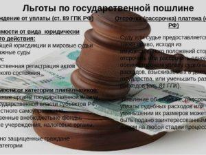 Уплата госпошлины по отдельным видам обращений в арбитражный суд
