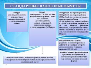 Налоговые вычеты поНДФЛ иособенности ихполучения в2018 году